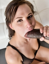 Aidra Fox sucks black cock