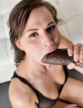 Aidra Fox sucks black cock