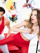Jillian Janson kick in the nuts