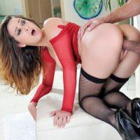 Big tit Ashley Adams fucks hardcore in stockings