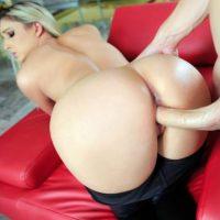 Allie Eve Knox hot blonde fucks huge cock