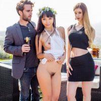 Stella Cox & Marica Hase Exchange student threesome